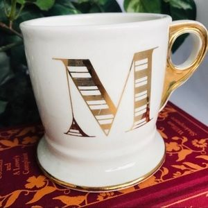 Anthro Monogram Mug